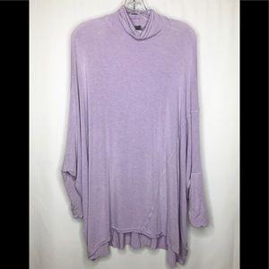 We the Free Purple Oversized Long Sleeve Top